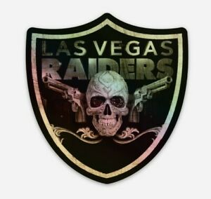 Las Vegas Raiders Holographic STICKER- Sin City Football Raiders Oakland NFL