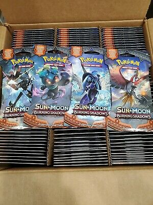 Pokemon Sun and Moon Burning Shadows Booster Packs Cards 4x New BOOSTER PACKS