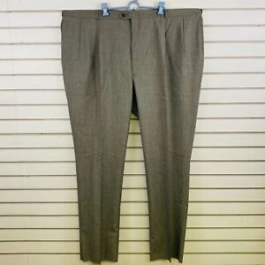 Mens 52r Austin Reed Pants Houndstooth Wool Super 100s Pleated Front Unhemmed Ebay