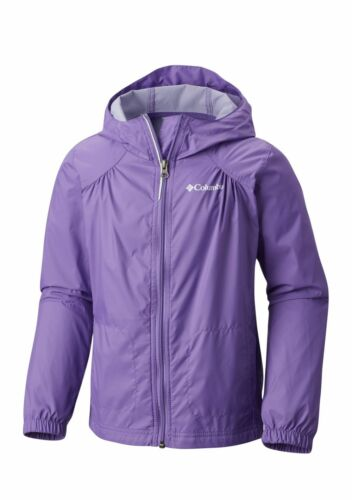 COLUMBIA® Little Girls/' XXS Grape Gum Switchback Rain Jacket NWT 4-5