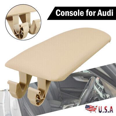 Center Console Lid Armrest Cover Center Beige For 00-06 Audi A4 S4 A6