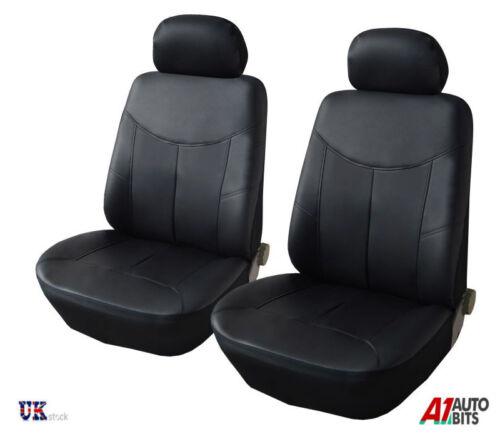 Delante Cuero Sintético Negro Fundas de Asiento para Hyundai I20 I35 Getz