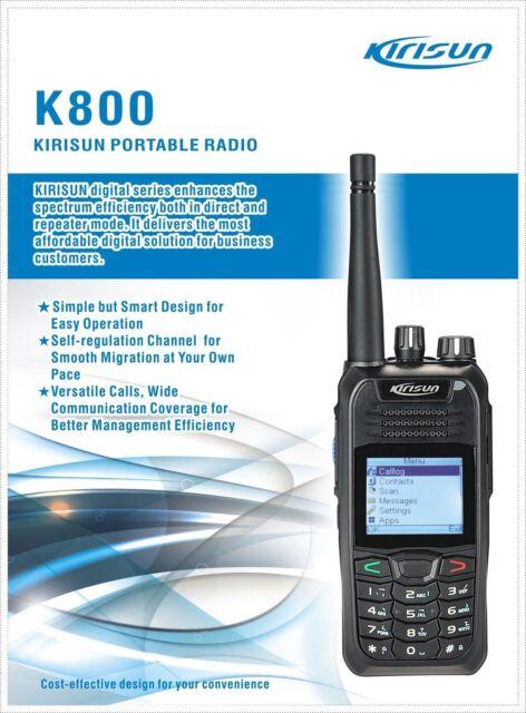 KIRISUN K800 5W UHF 400-470MHz Handheld FM Transceiver Digital 2-Way Radio