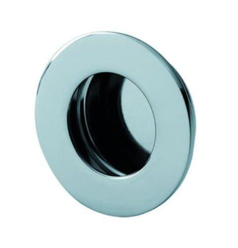 51 mm dia Tirez flush circulaire en acier inoxydable poli