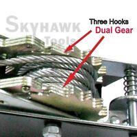 2 Ton 3 Hooks 4,000lb Come Along Hoist Ratcheting Cable Winch Puller Crane