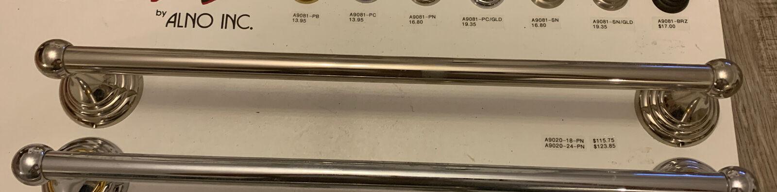 Alno Creations A9020-18-PN Polished Nickel 18 Inch Wide Towel Bar