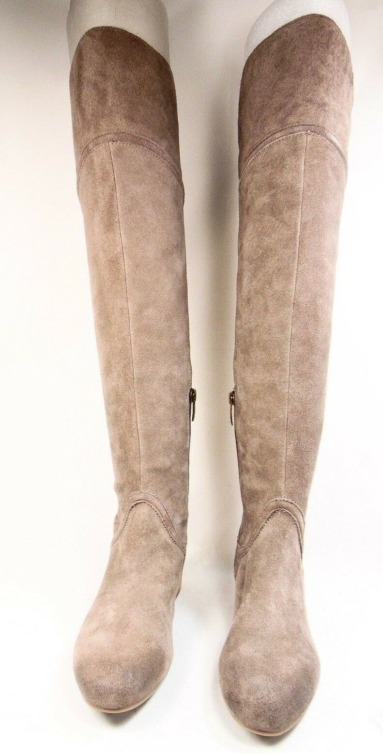 ENZO ANGIOLINI MALACI Womens High Boots  Suede Leather Taupe Size 6.5M