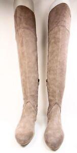 3ba47f92da7 ENZO ANGIOLINI MALACI Womens High Boots Suede Leather Taupe Size 6.5 ...