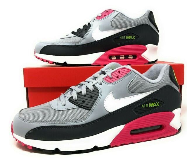 Nike Air Max 90 Essential Wolf GreyRush Pink Mens Lifestyle Shoes SZ AJ1285 020