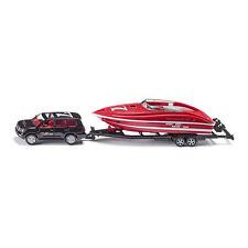 Siku 2543 Toyota Landcruicer schwarz mit Motorboot auf Anhänger 1:55 NEU!°