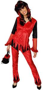 Kostum Teufel Damen Devil Hexe Diabolo Fasching Karneval Cosplay