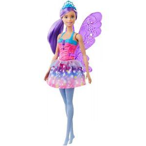 Barbie-Dreamtopia-Fairy-Doll-Purple-Hair-amp-Tiara-Wings-New