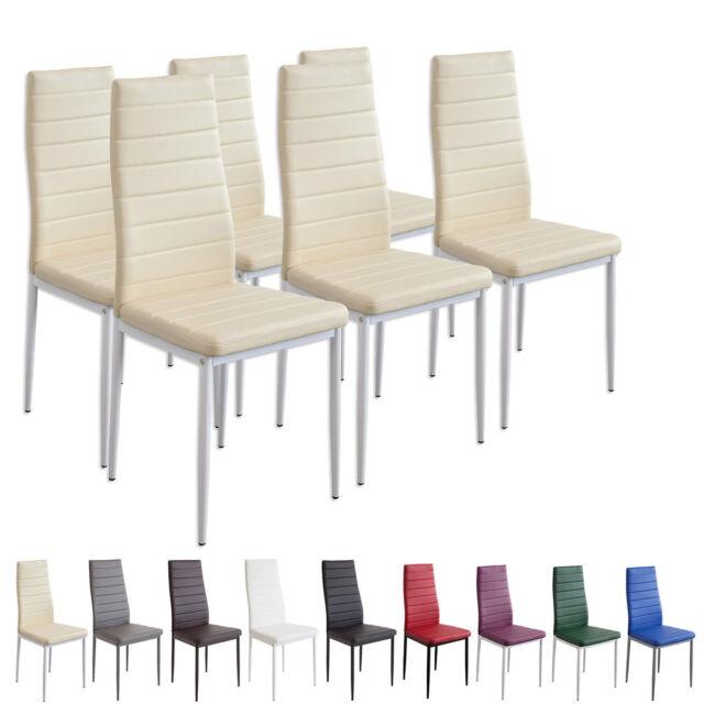 6 x Esszimmerstühle MILANO - beige / creme - Esszimmerstuhl Stuhl Stühle