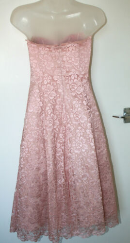 Debenhams Prom Debut Ny Kjole Eu36 Uk8 Lace Rosa Bodice Boned Med pxpqwrCP