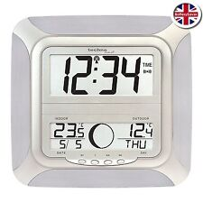 Technoline WS8118 LCD Wall Clock with Outdoor temperature and Moonphase display