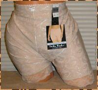 Delta Burke Slimming Jacquard Long Leg Taupe Panties Lingerie, Sz 10 3x