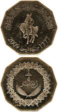 LIBYEN/LIBYA 1/4 Dinar 1377/2009 XF/AUNC (KM# 30) (magnetic/smaller)