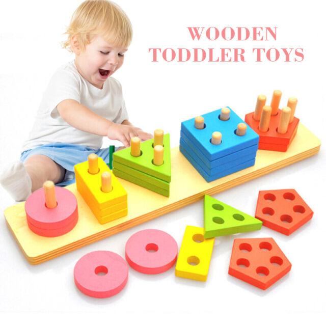 Wooden Educational Preschool Toddler Toys for 1-5 Kid Boys ...