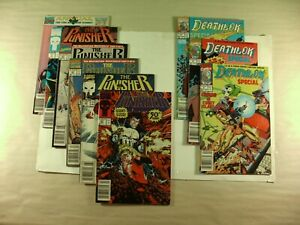 Lot of 9 Marvel Comics The Punisher and Deathlok 1991 (FN/VF)