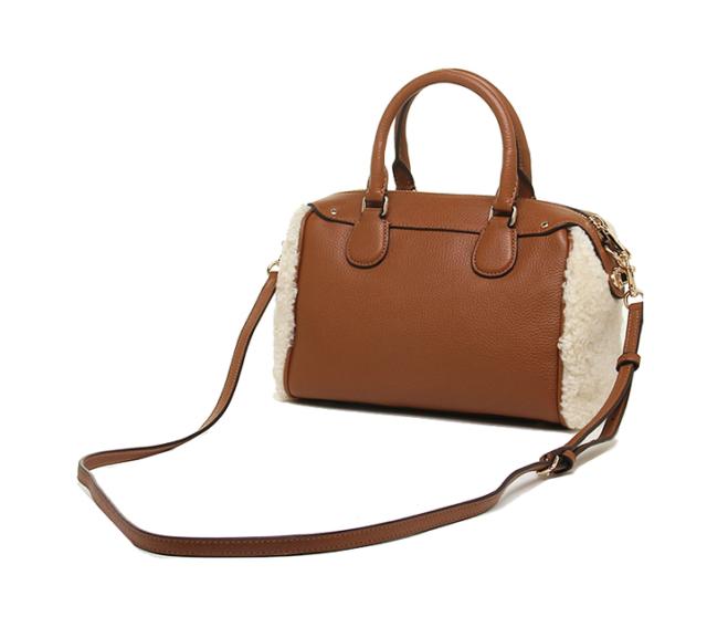 Nwt Coach Shearling Mini Bennett Satchel Handbag Crossbody Bag F36689 Natural
