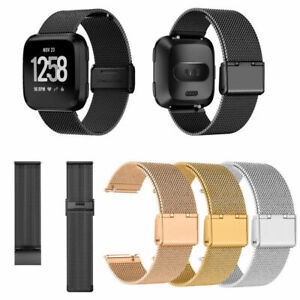 US-For-Fitbit-Versa-Versa-2-Watch-Band-Milanese-Wrist-Stainless-Metal-Strap