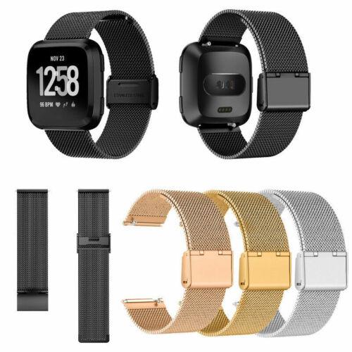 For Fitbit Versa 2//Versa Lite Milanese Wrist Stainless Metal Bracelet Strap Band