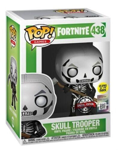Funko POP ® fortnite 438-SKULL Trooper Special Edition si illumina al buio