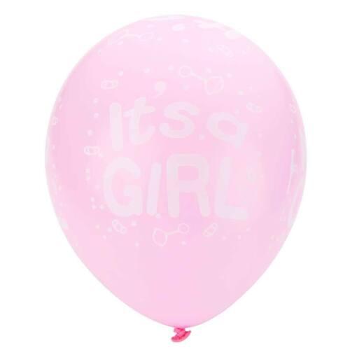 Packung mit 10 Es ist ein Mädchen Boy Latex Luftballons Baby Shower Taufe