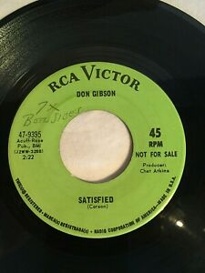 45-RCA-Victor-record-DON-GIBSON-Satisfied-Where-No-One-Stands-Alone-CHET-ATKINS