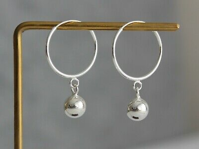 Minimal 925 Sterling silver ball earrings minimalist jewellery Mother/'s day gift