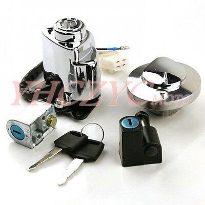 Ignition Switch Gas Cap Helmet Steering Lock Key for Honda VT600 Shadow 400 750