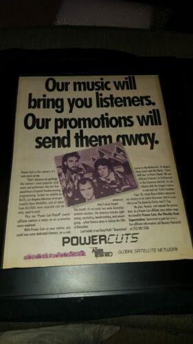Genesis Powercuts Sydney Australia Concert Promo Poster Ad Framed!