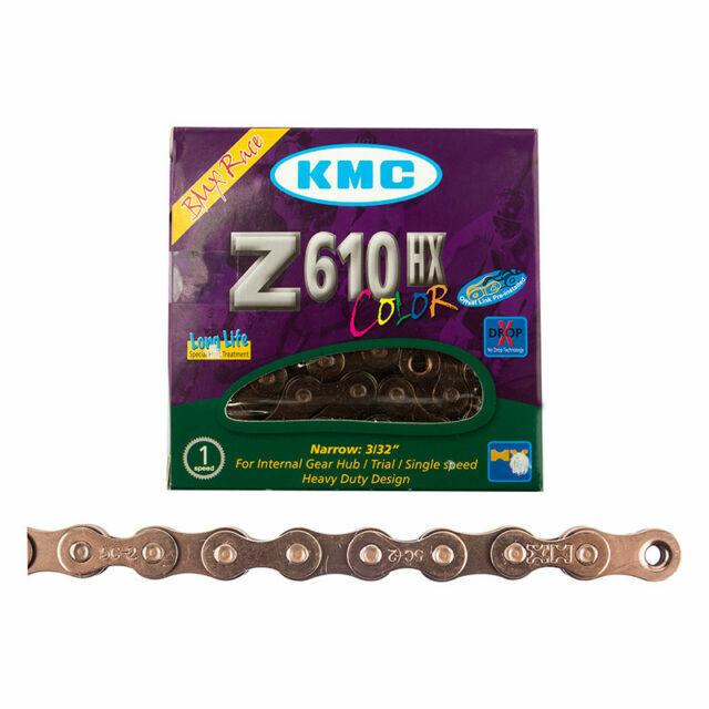 KMC Z610Hx Single Speed Bike Chain 112 Links Copper
