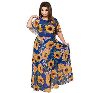Details about 6XL Sunflower Women Party Dress Plus Size Women Clothing  Summer Beach Dress 2017