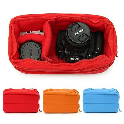 Shockproof DSLR SLR Camera Bag Insert Protect Case Pouches For Canon Nikon Sony