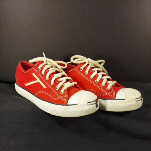 Vintage 90s Tommy Hilfiger Women's Size 9 Red Can… - image 1