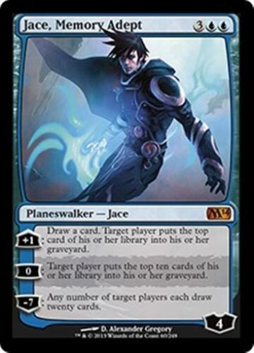 JACE MEMORY ADEPT M14 Magic 2014 MTG Blue Planeswalker MYTHIC RARE