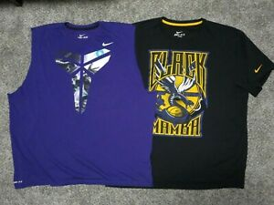 Kobe-Bryant-Shirt-Men-3XL-Dri-Fit-Purple-Gold-amp-Black-Mamba-Lot-of-2