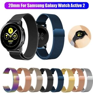For-Samsung-Galaxy-Watch-Active-2-Magnetic-Milanese-Loop-Wristwatch-Band-Strap