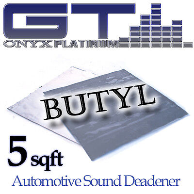 "20 SQFT Car Sound Noise Deadening GTMAT Butyl Noise Insulation Sheets 12/"" x 12/"""