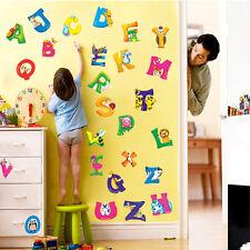 A-Z Alphabet&Animals Vinyl Mural Wall Stickers Decals Nursery Kids Room Decor WS