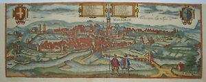 Warburg-Hoexter-Westfalen-seltener-Braun-und-Hogenberg-Kupferstich-1580