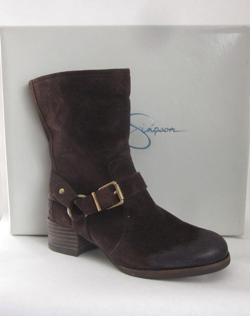 Jessica Simpson Annine Tobacco Brown Veronica Suede Mid Calf Boots Size 6.5