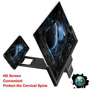 "14"" Phone Screen Magnifier Amplifier 3D Video Mobile Phone Bracket Stand Folding"