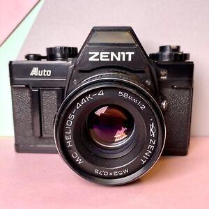 Zenit-Auto-35mm-SLR-Film-Kamera-mit-Helios-44k-4-Objektiv-58mm-f2-funktionsfaehig-Lomo