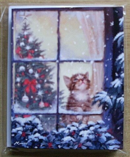 Through The Window 13.6 x 10.8cms SALE PRICE Christmas Cards Pack of 10