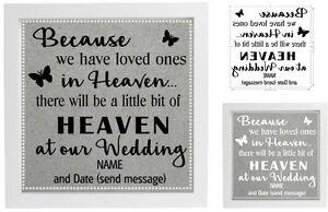 Vinyl Sticker 20x20cm DIY Box Frame BECAUSE WE HAVE LOVED ONES IN HEAVEN/WEDDING