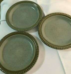 Vintage-Kasuga-Genuine-Stoneware-Hand-crafted-by-Showa-3-Salad-Plates