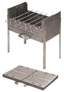 Mangal Portable Barbecue Grill Foldable Steel 1.5mm Thick BBQ Sashlik Мангал