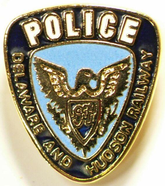 Police Delaware Hudson Railway Pin Vintage #10289